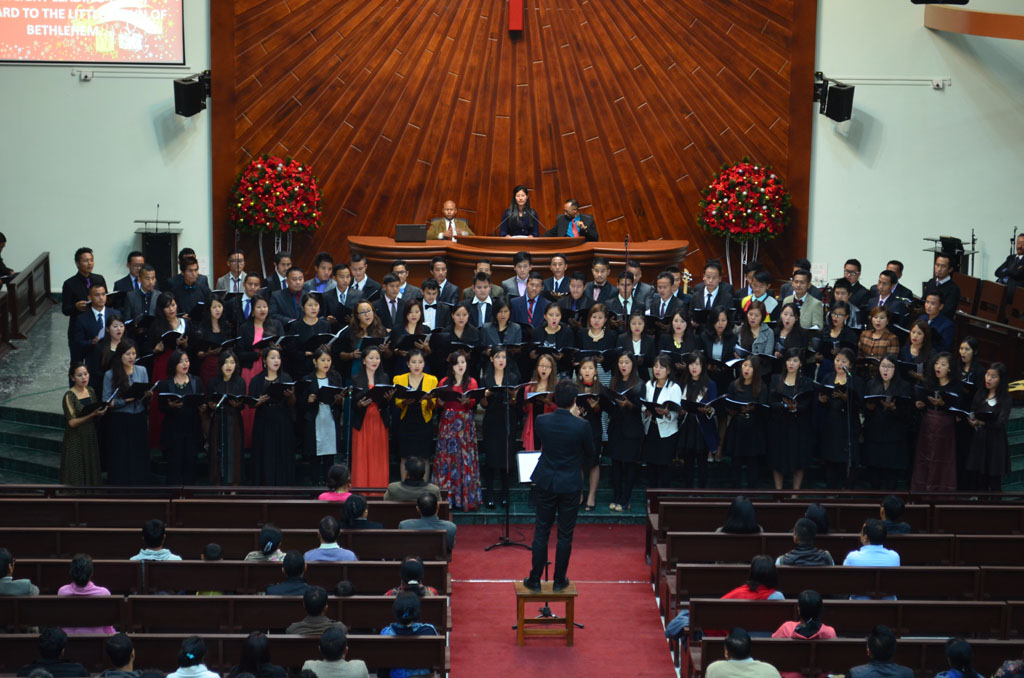 Christmas Concert at Ao Baptist Church Diphupar, December 2015
